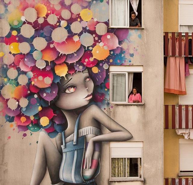 работа французской художницы Vinie Graffiti