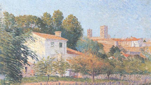 Vue d'Elne par Etienne Terrus (1900)