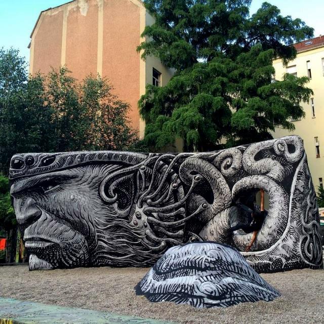 Работа уличного художника WD (Wild Drawing)
