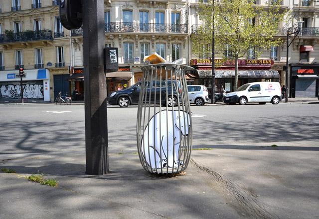 мусорная корзина во Франции